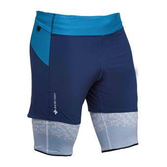 Raidlight ULTRALIGHT - Short 2 en 1 Homme bleu foncé
