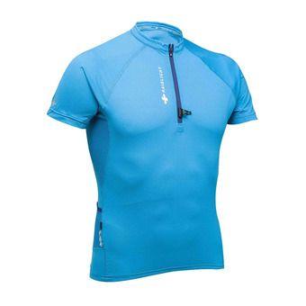 Maillot MC 1/3 zippé homme PERFORMER bleu
