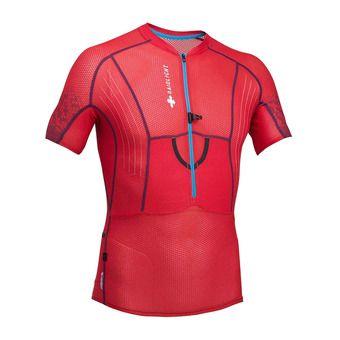 Maillot MC 1/2 zippé homme XP FIT 3D rouge