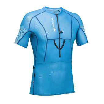Maillot MC 1/2 zippé homme XP FIT 3D bleu