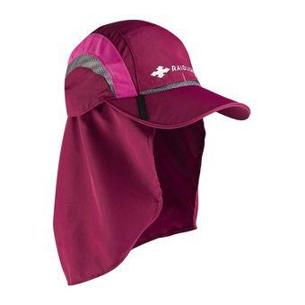 Raidlight SAHARA - Cappellino Donna granata/rosa