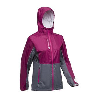 Raidlight TOP EXTREME MP + - Chaqueta mujer granate/gris