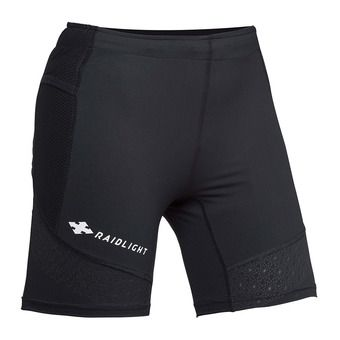 Raidlight STRETCH RAIDER - Mallas cortas mujer negro