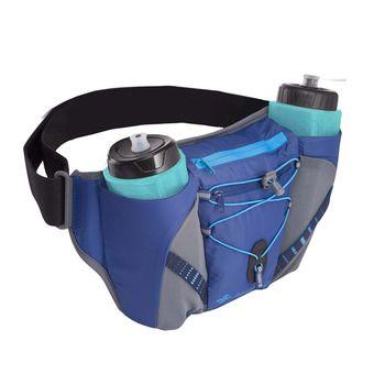 Cinturón de hidratación hombre ACTIV DUAL 600 azul oscuro/gris