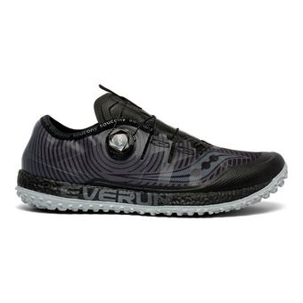 Saucony SWITCHBACK ISO - Chaussures trail Homme noir/gris