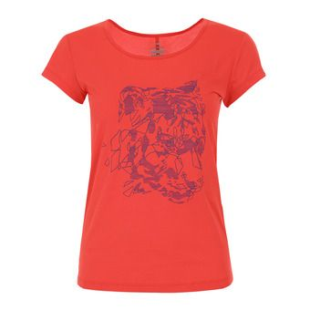 Tee-shirt MC femme FLEX spicy coral