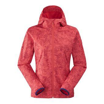 Veste à capuche femme TONIC spicy coral print
