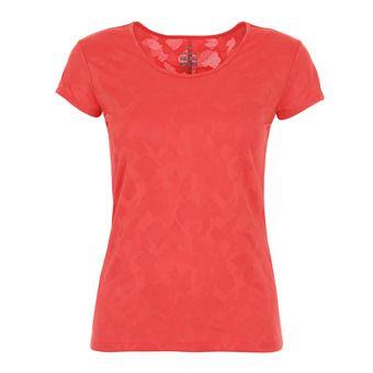 Camiseta mujer FLEX JACQUARD spicy coral