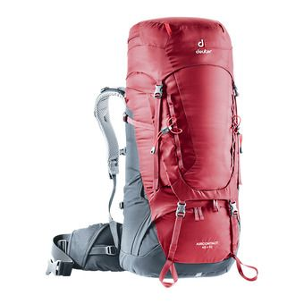 Deuter AIRCONTACT 45+10L - Backpack - raspberry/graphite