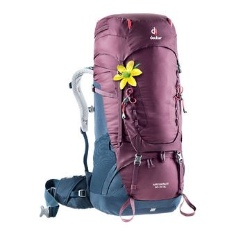 Deuter AIRCONTACT 50+10L - Backpack - Women's - blackberry/navy blue
