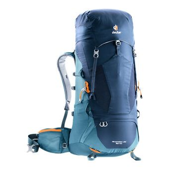 Deuter AIRCONTACT LITE 50+10L - Backpack - navy blue/arctic blue