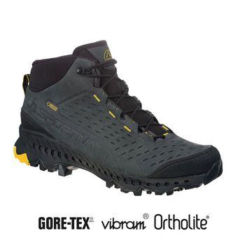La Sportiva PYRAMID GTX - Zapatillas de senderismo hombre carbon/yellow