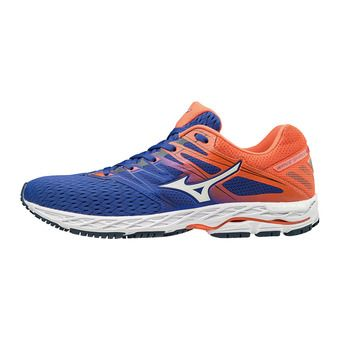 Mizuno WAVE SHADOW 2 - Chaussures running Homme reflex blue/white/nasturtium