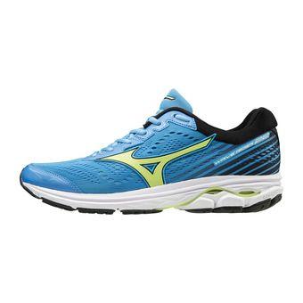Mizuno WAVE RIDER 22 - Chaussures running Homme azure blue/sharp green/black