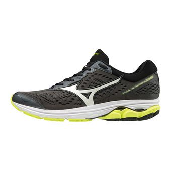 Mizuno WAVE RIDER 22 - Chaussures running Homme dark shadow/white/safety yellow