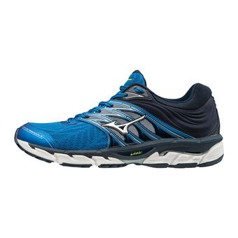 Mizuno WAVE PARADOX 5 - Chaussures running Homme directoire blue/silver/dress blue