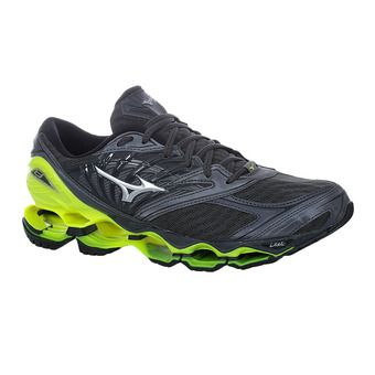 Mizuno WAVE PROPHECY 8 - Chaussures running Homme dark shadow/silver/safety yellow