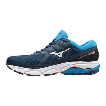 Mizuno WAVE ULTIMA 11 - Chaussures running Homme malibu blue/white/brillant blue