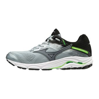 Mizuno WAVE INSPIRE 15 - Chaussures running Homme quarry/stormy weather/green gecko