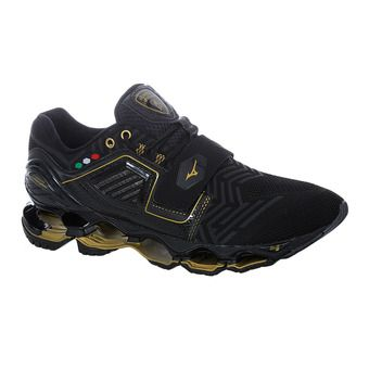 Mizuno WAVE TENJIN 4 - Zapatillas de running hombre black/dark shadow/gold