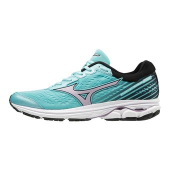 Mizuno WAVE RIDER 22 - Zapatillas de running mujer angel blue/lavender frost/black