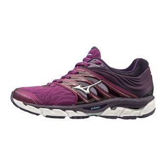 Chaussures de running femme WAVE PARADOXE 5 purple wine/silver/mysterioso