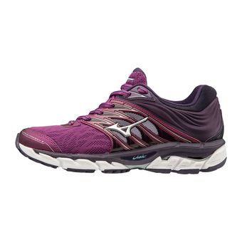 Mizuno WAVE PARADOXE 5 - Running Shoes - Women's - purple wine/silver/mysterioso