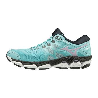 Mizuno WAVE HORIZON 3 - Zapatillas de running mujer angel blue/lavender frost/black