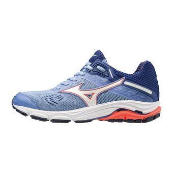Mizuno WAVE INSPIRE 15 - Chaussures running Femme grapemist/white/fiery coral