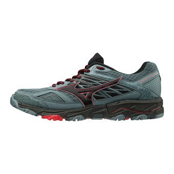 Mizuno WAVE MUJIN 5 - Zapatillas de trail hombre quarry/black/briliant blue