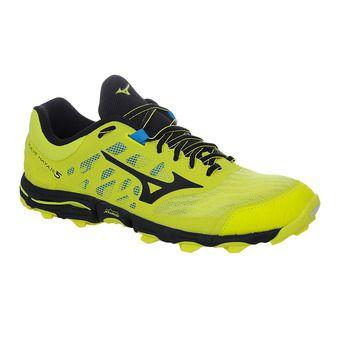 Mizuno WAVE HAYATE 5 - Trail Shoes - Men's - bolt/black
