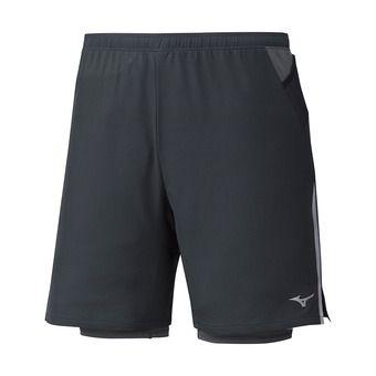 Mizuno ER 7.5 2IN1 - Short 2 en 1 Homme black