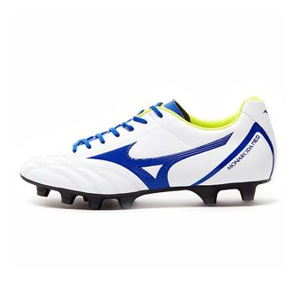 Mizuno MONARCIDA NEO SELECT - Crampons rugby white/mazzarine blue/safety yellow