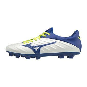 Mizuno REBULA 2 V3 - Botas de rugby white/mazzarine blue/safety yellow