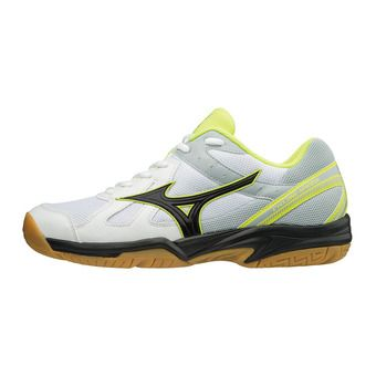 Mizuno CYCLONE SPEED - Zapatillas de voleibol hombre white/black/safety yellow