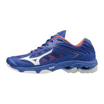 Mizuno WAVE LIGHTNING Z5 - Chaussures volley Homme reflex blue/white/nasturtium