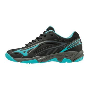 Zapatillas de balonmano mujer WAVE GHOST black/blue caracao/dark shadow