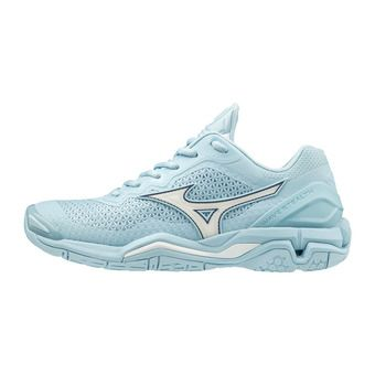 Mizuno WAVE STEALTH V - Chaussures hand Femme cool blue/white