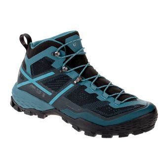Mammut DUCAN GTX - Hiking Shoes - Men's - black/light poseidon