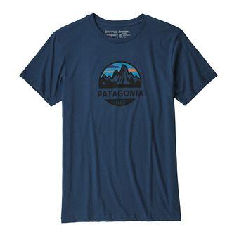 Tee-shirt MC homme FITZ ROY SCOPE ORGANIC stone blue