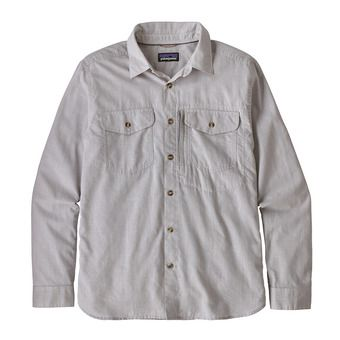 M's L/S Cayo Largo II Shirt Homme Chambray: Feather Grey