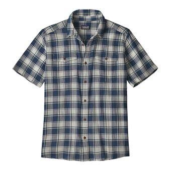 M's Steersman Shirt Homme Protester Plaid: Stone Blue