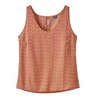 Patagonia JUNE LAKE - Tank Top - Women's - bluff river/sunset orange