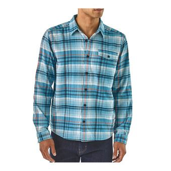 Patagonia LW FJORD FLANNEL - Chemise Homme break up blue