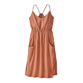 Robe femme LOST WILDFLOWER DRESS bluff river/sunset orange
