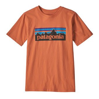 Patagonia P-6 LOGO ORGANIC - T-shirt Junior sunset orange