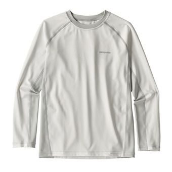 Patagonia SW RASHGUARD - Rashguard - Junior - white/tailored grey