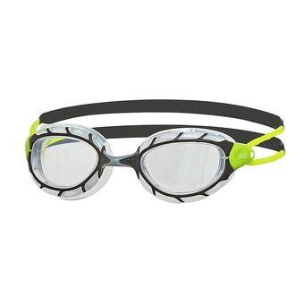 Zoggs PREDATOR - Occhialini da nuoto black/lime/clear