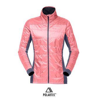 Anorak híbrido Polartec® mujer FALKETIND ALPHA60 geranium pink