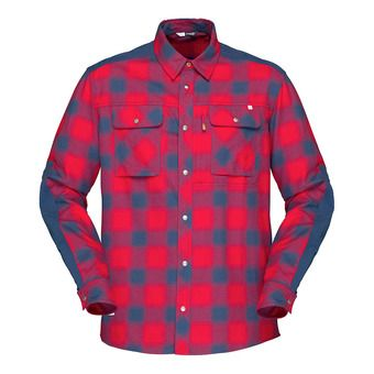 Norrona SVALBARD FLANNEL - Chemise Homme jester red